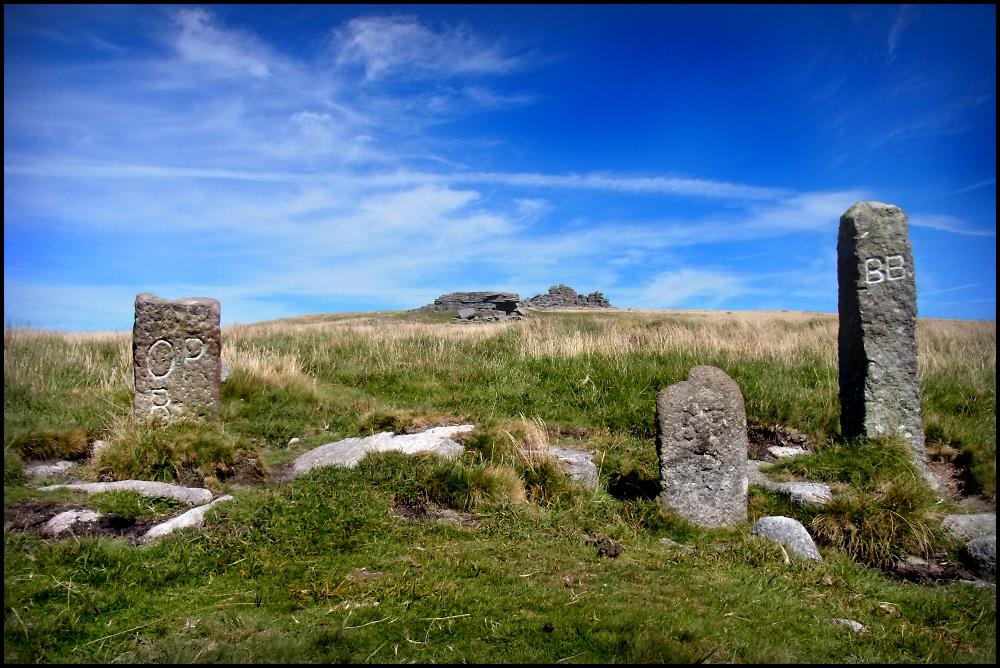 Carved Standing Stones on Dartmoor