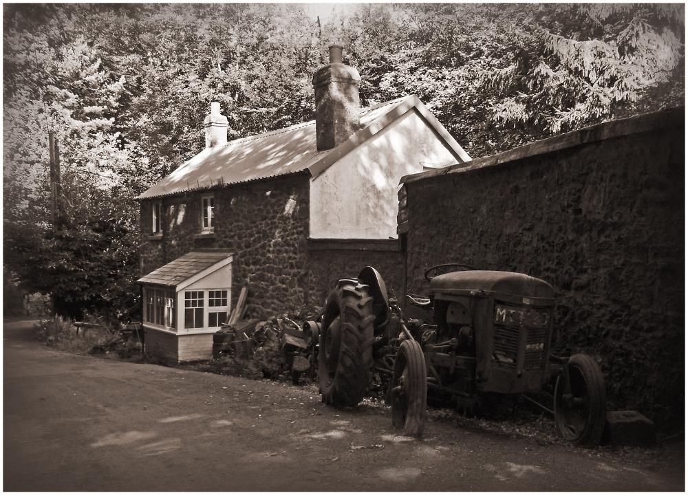 Devon Village Scene