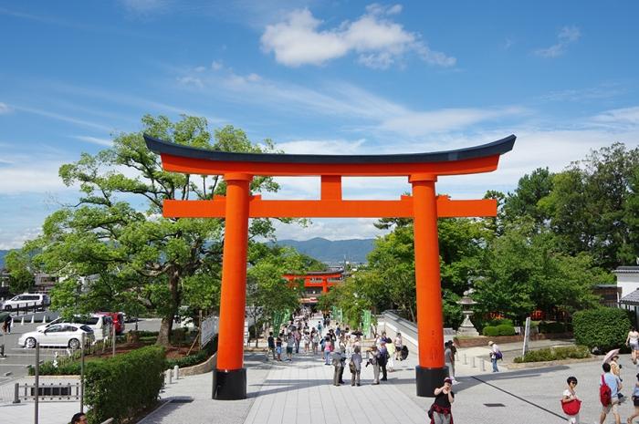 Kyoto Japan - torii gate at Fushimi Inari Shrine
