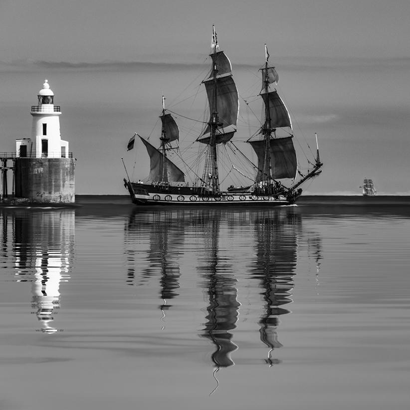 Tall Ships leaving Blyth