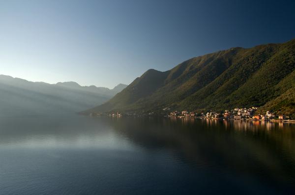 Sunrise in Kotor Bay