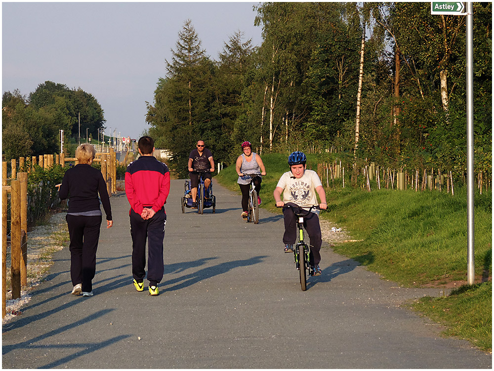 Biking on the Guided Busway