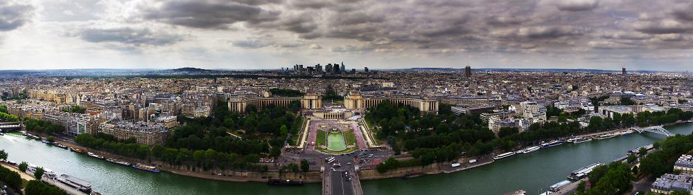 Paris panorama looking north
