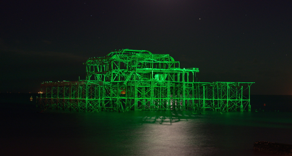 West Pier - at night