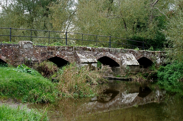 16thC pack horse bridge: River Blythe