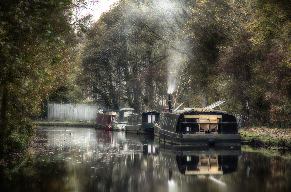 Barges on the Rochdale Canal