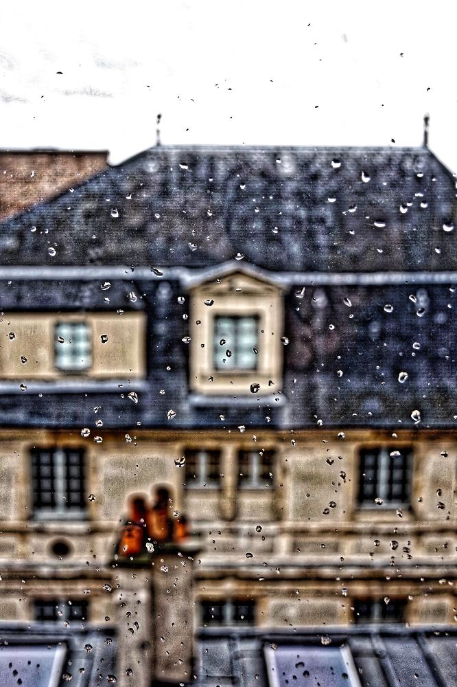 A tiny piece of Paris viewed between drops of desultory rain