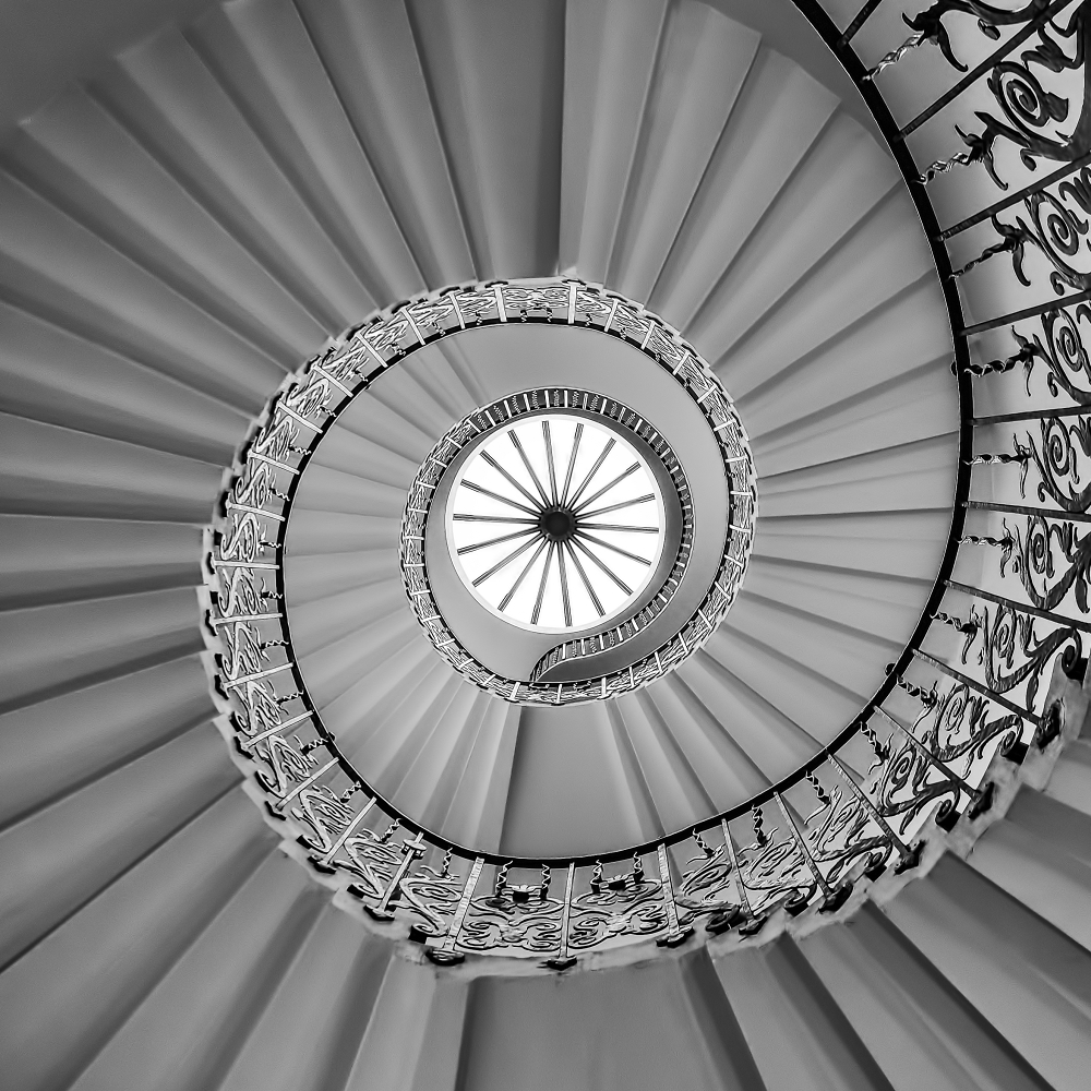 Spiral Staircase at Queen's House, Greenwich.