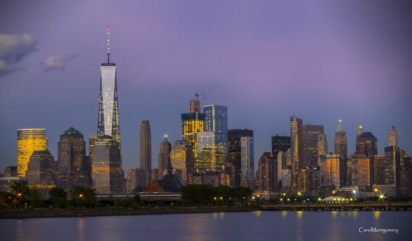 City before dark