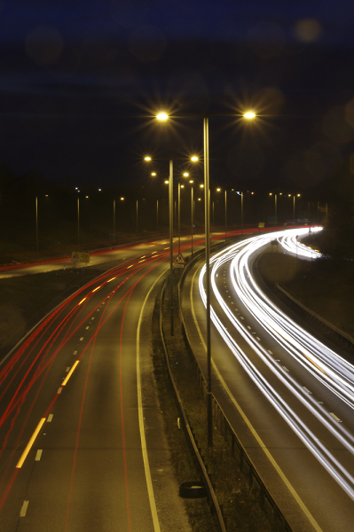 Light Trails on the A14