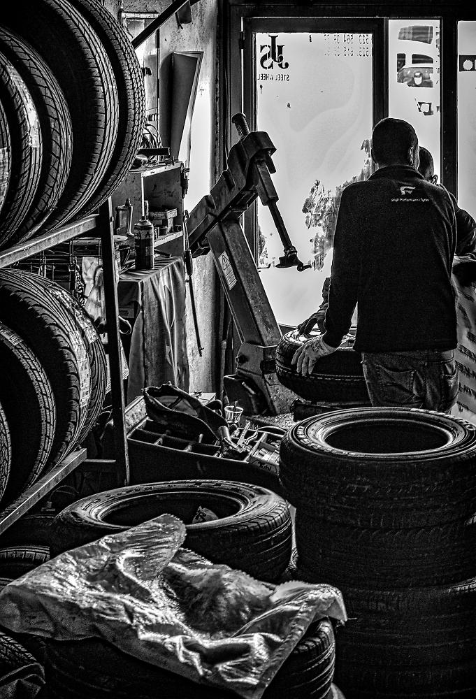 At a Tire Dealer