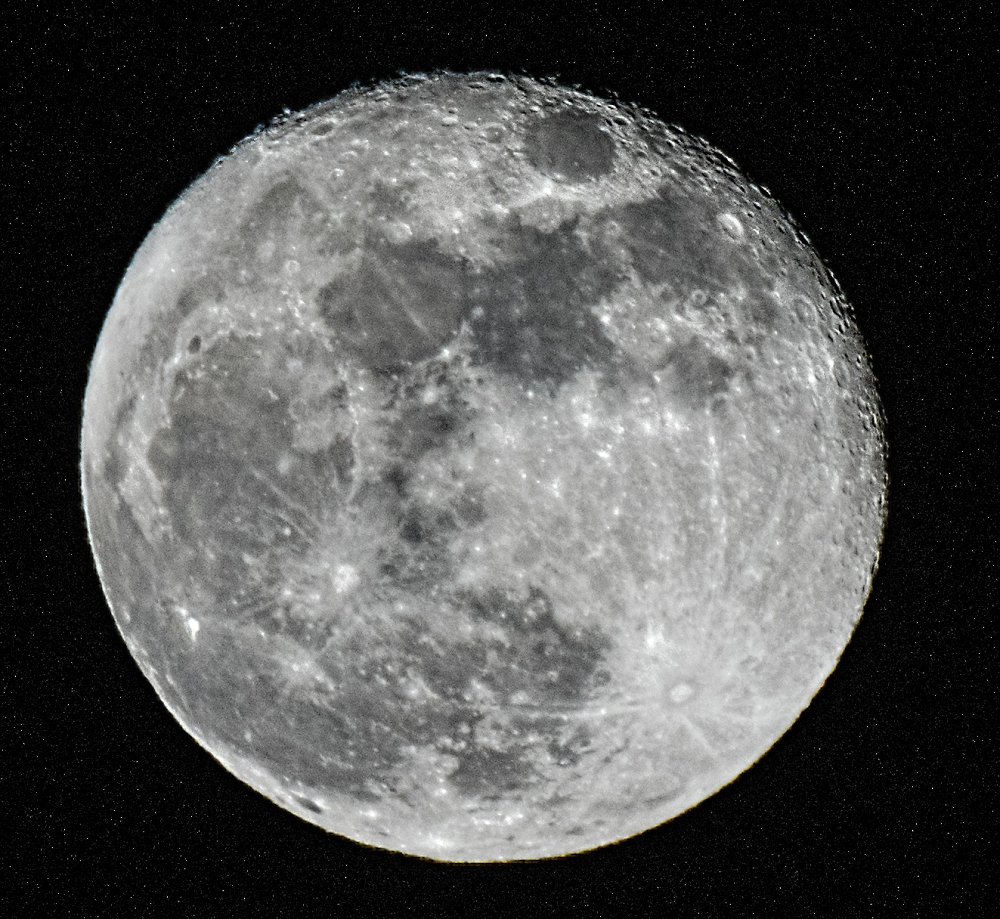 Tonight's moon Friday 13th Jan