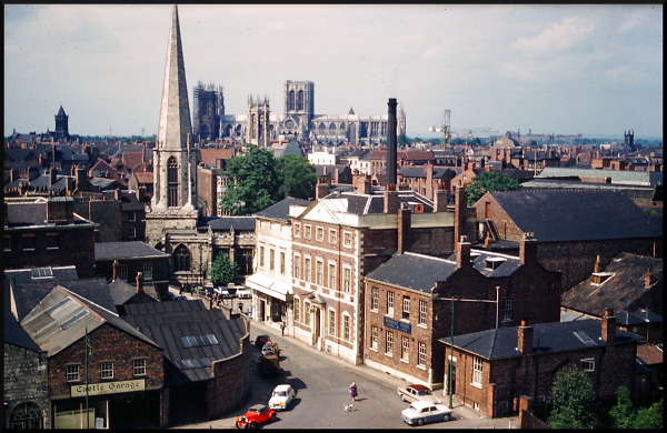 York city-scape with Minster - June 1961