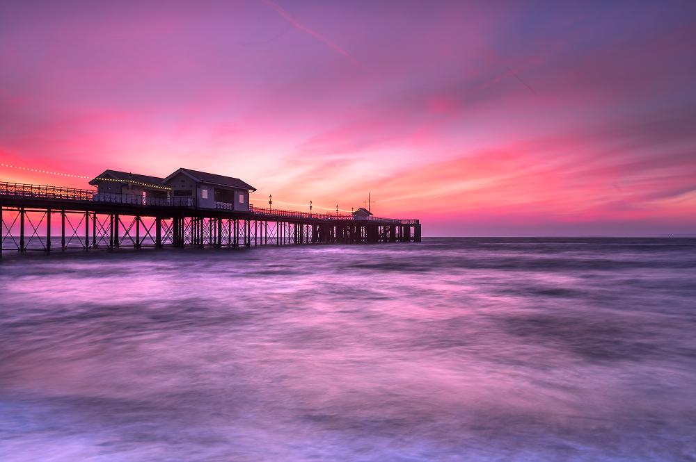 Penarth Pier pre-sunrise