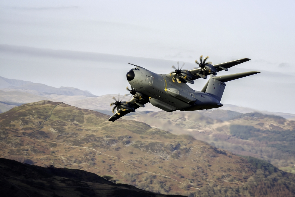 Raf Atlas A400m 1st Time low level in Wales