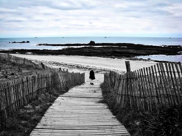 Winter gray blue sea