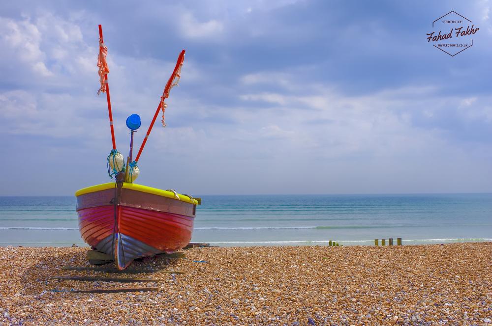 Boat near Worthing beach