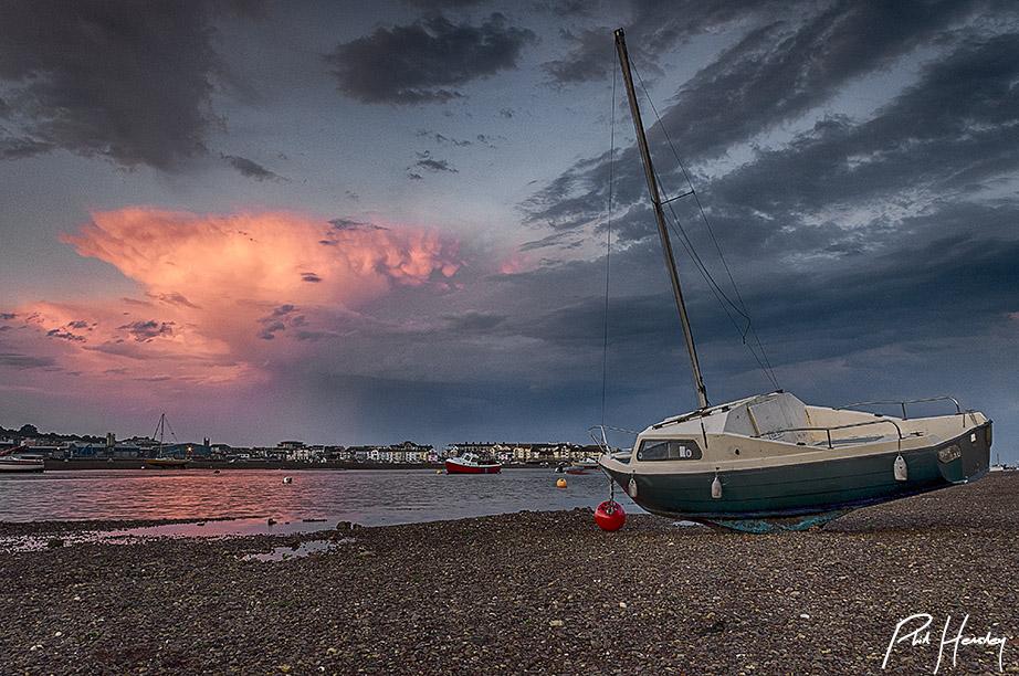 Retreating Thunderstorm - Teign Estuary