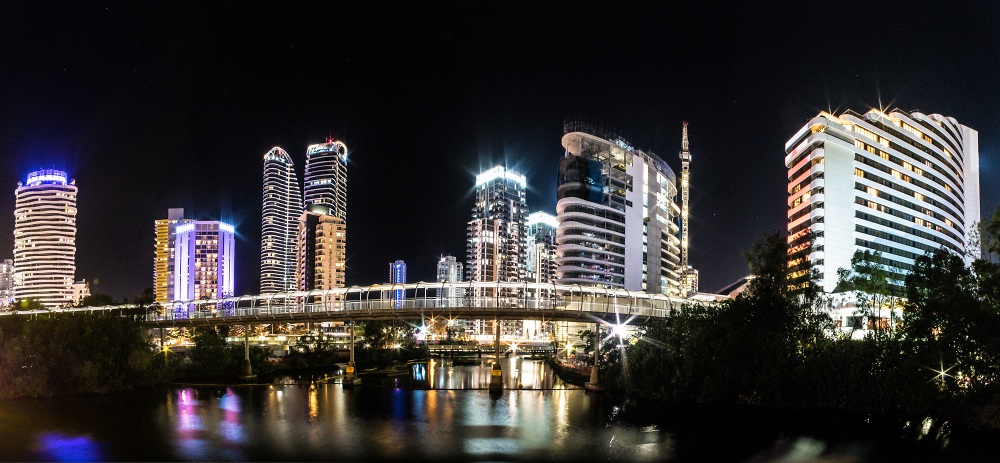 Gold Coast Night Panorama