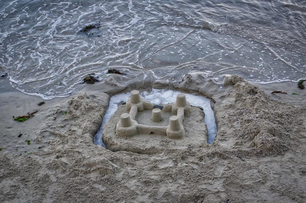 Still a sand castle