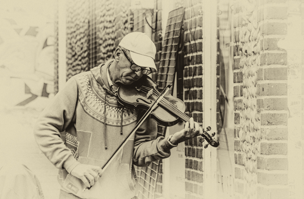 The Man and his Fiddle.