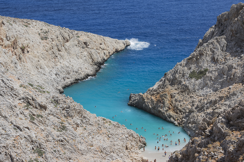 Seitan Limania Beach in Crete