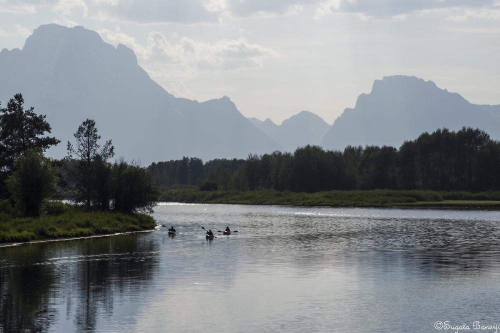 Kayaking on Snake River