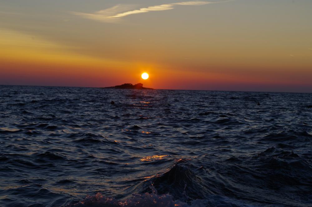 Plava Laguna at sunset