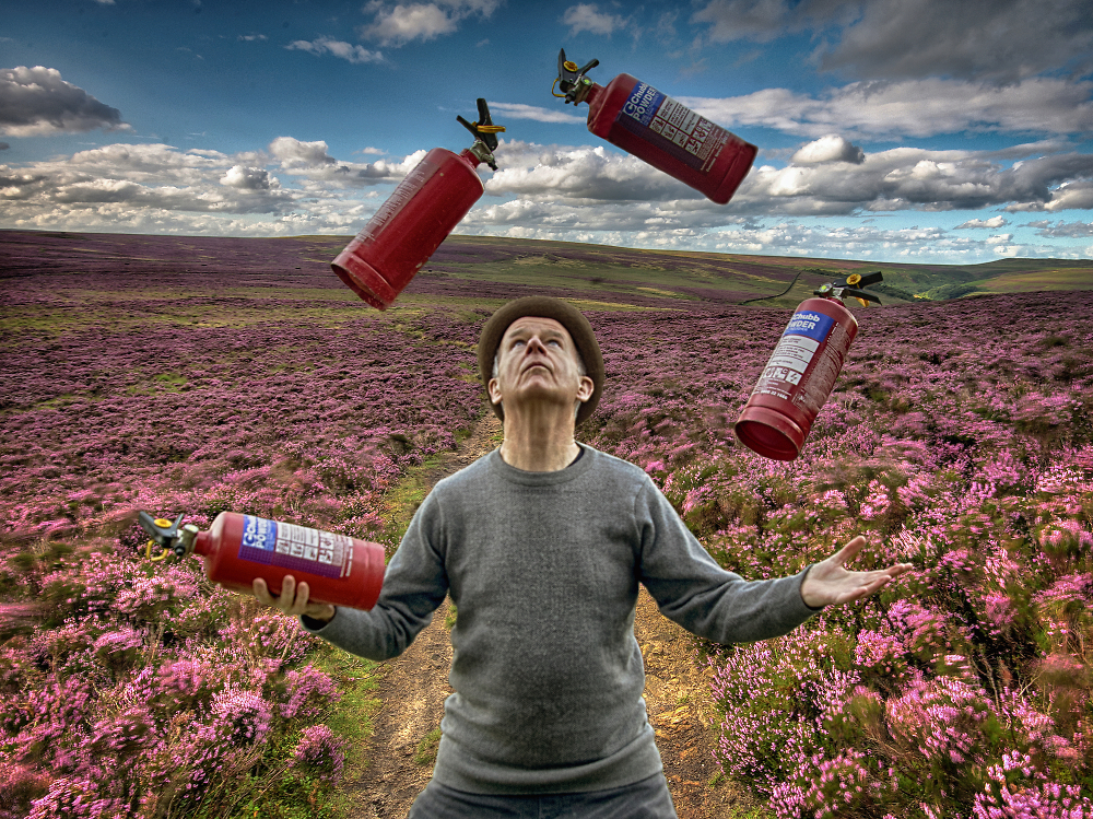 Juggling Fire-Extinguishers on the Moors