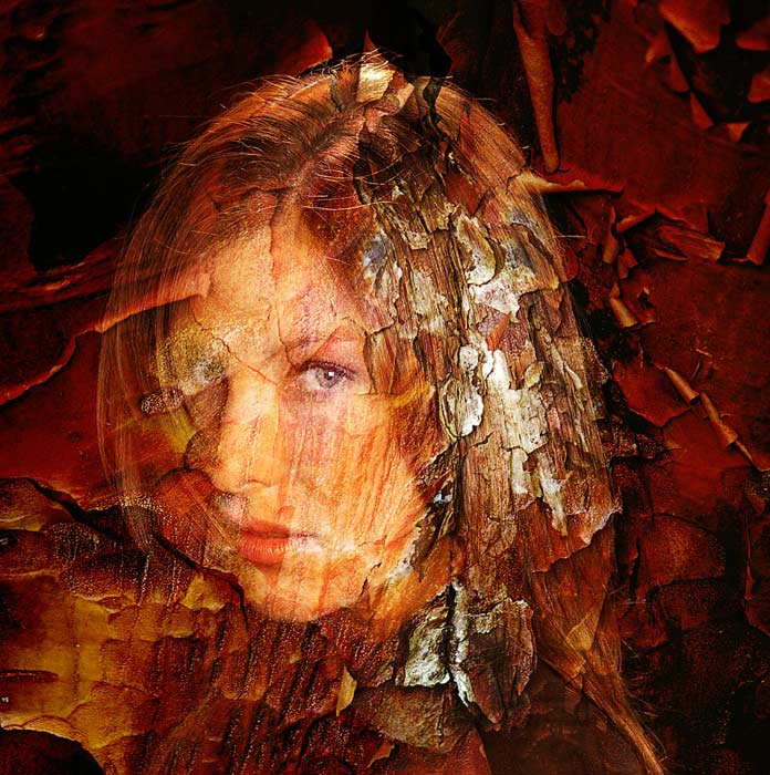 Girl in Nature inspired by the pre-Raphaelite painters