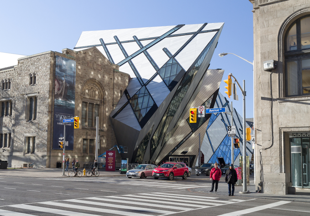 Stand Off View of Royal Ontario Museum's New Facade