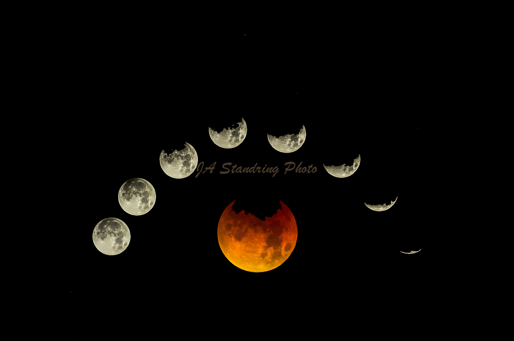 Super Blue Blood Moon Eclipse , From Mexico