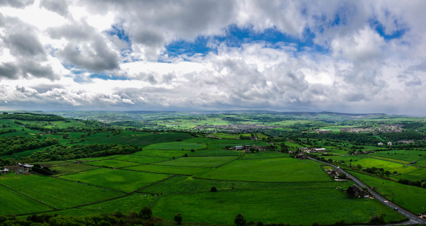 Panorama From Castle Hill - Huddersfield