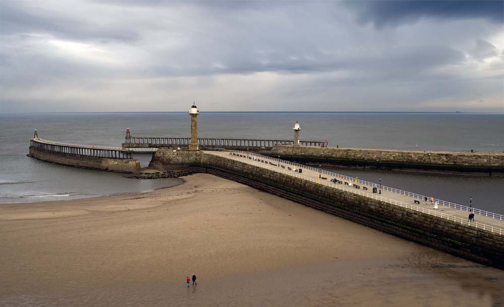 another low tide at Whitby