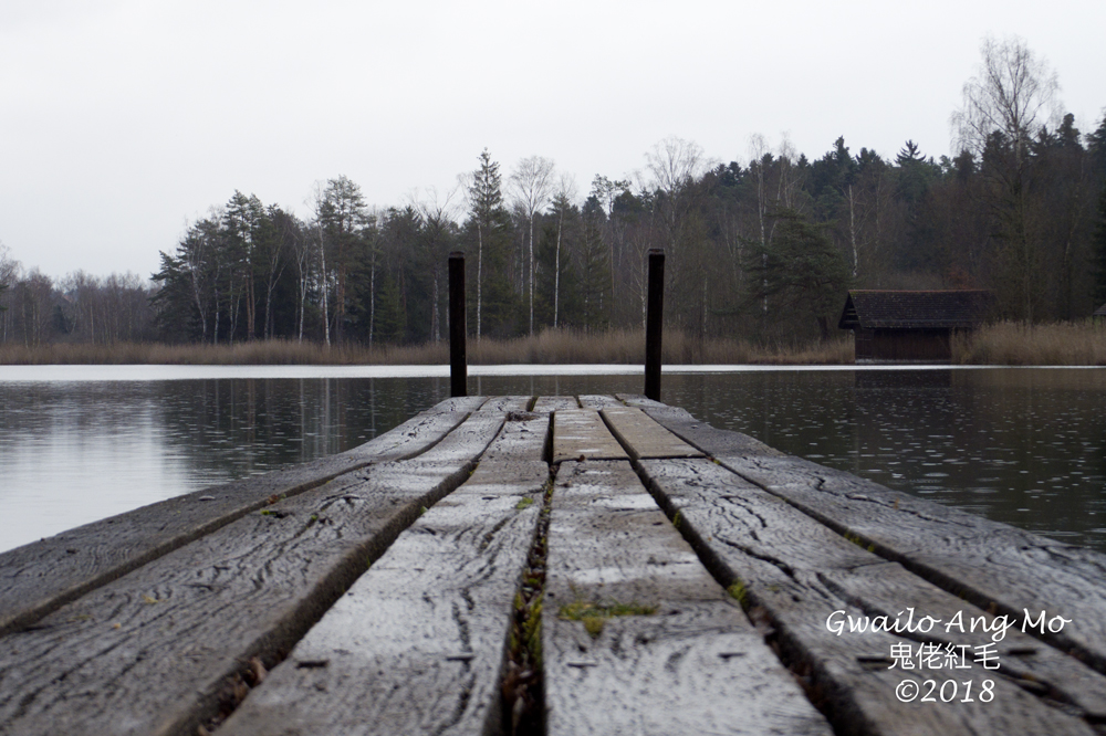 Swiss Jetty and Lake in the Rain