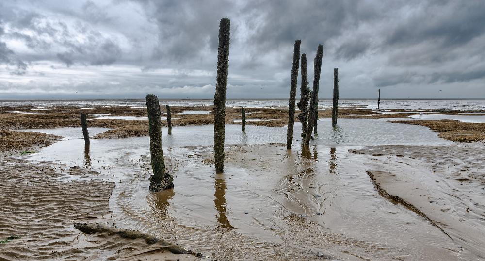 Old Hunstanton beach at low tide