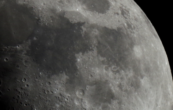 Five Lunar 'Seas'