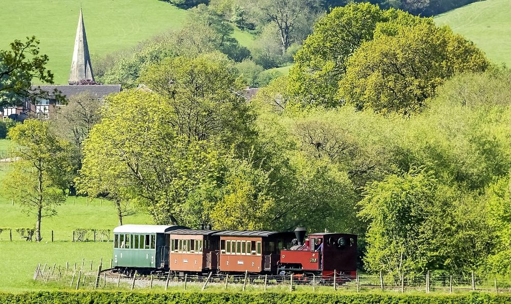 Steam in a rural setting