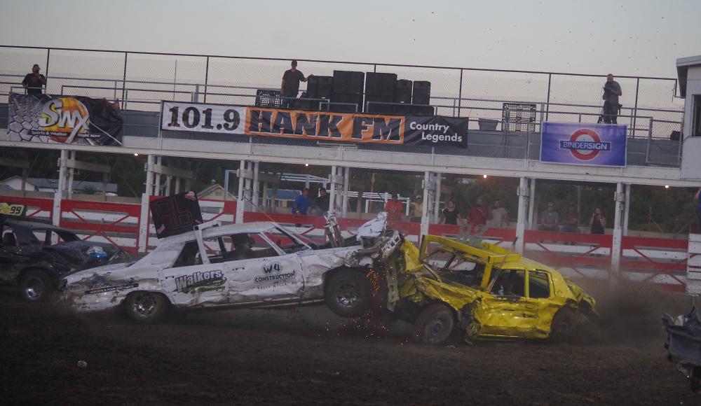 Action at Crash Mania Demolition Derby Walla Walla July 14th