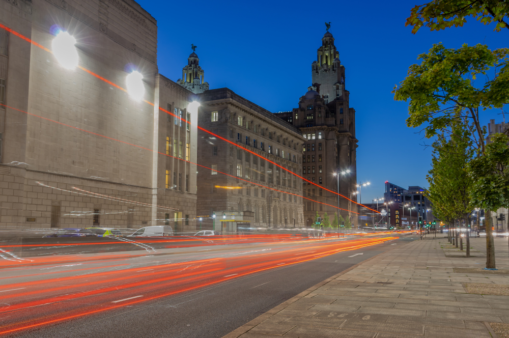 Blue Hour on The Strand, Liverpool