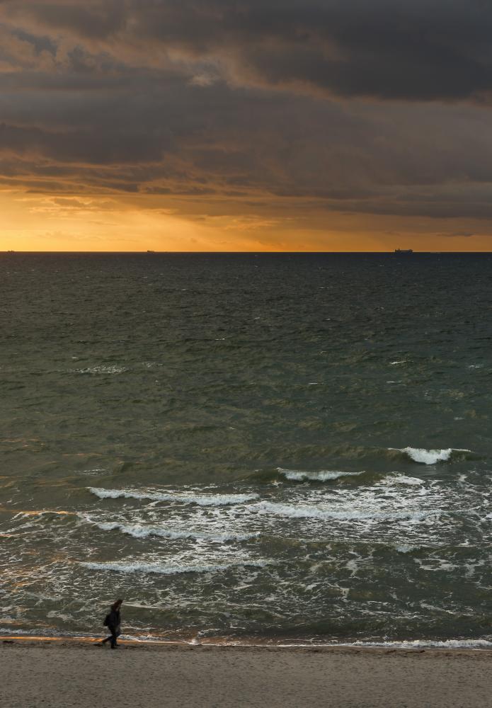 Ahrenshoop, approaching sunset