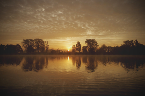 Sunrise at Coate Water Country Park