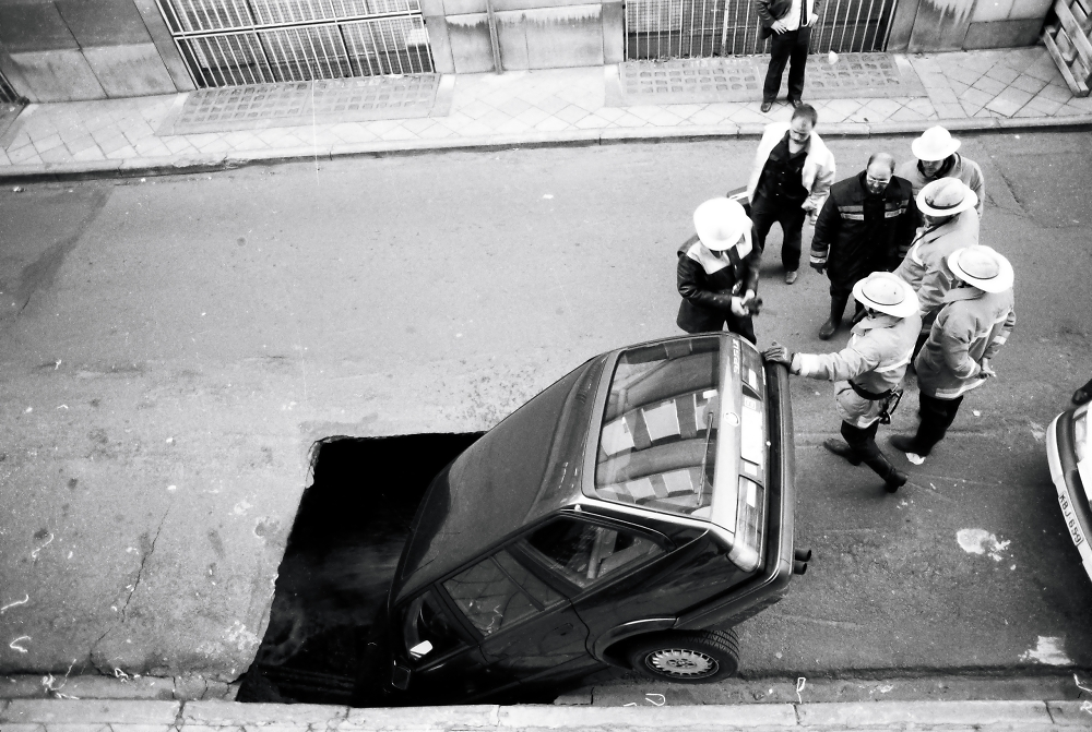 The mother of all potholes