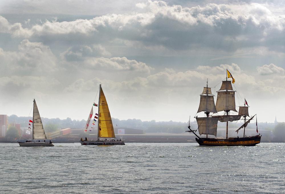 Three sailing boats