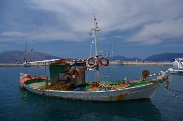 Kefalonia fishing boat