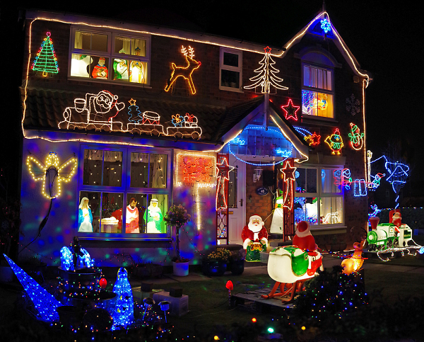 'Tis the season for competing for the biggest Christmas lights display.