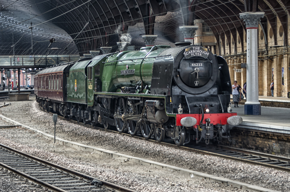 Duchess of Sutherland in York station.