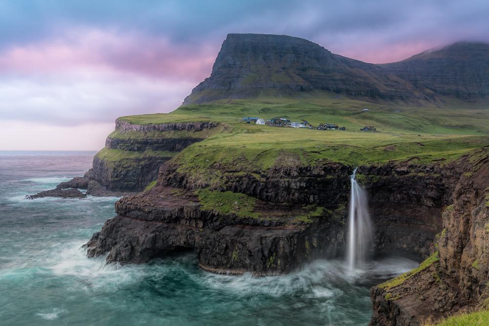 Gasadular Waterfall, Faroes