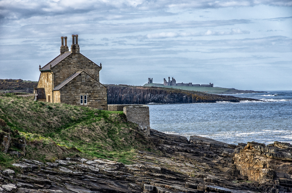 House and Castle. Northumberland.