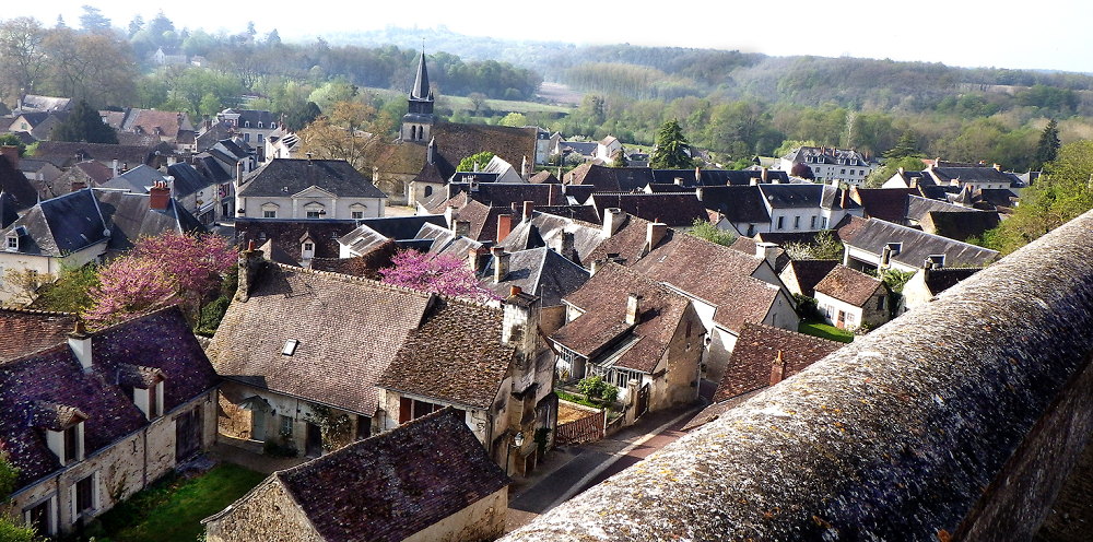 Our village from above... Le Grand Pressigny, Touraine du Sud.
